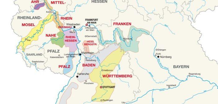 Anbauregionen in Deutschland