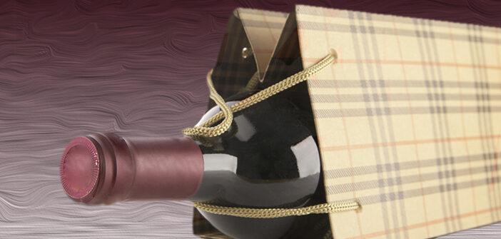 Flaschentaschen bedrucken: Weinpräsente in edler Hülle