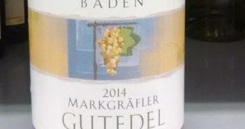 Markgräflerland-Gutedel 2014 von EDEKA, abgefüllt im Badischen Winzerkeller
